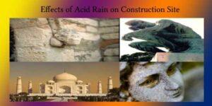 effects of acid rain on building